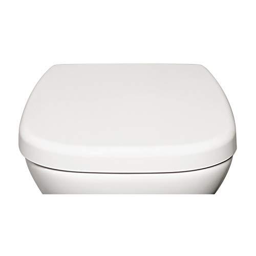 Bullseat 7.1 premium Toilettendeckel weiß passend zu Duravit D-Code. Klodeckel mit Absenkautomatik/Softclose und abnehmbar. Antibakterielle Klobrille aus Duroplast und rostfreiem Edelstahl.