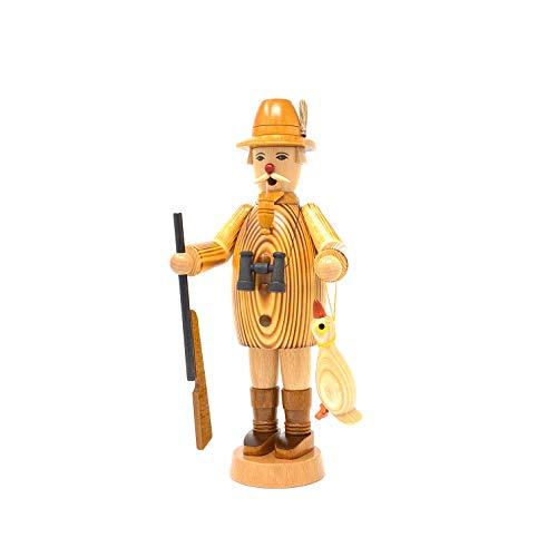 Friedbert Uhlig, incenso n. 005, incenso con anatra, bruciato, alto 25 cm, in legno tornito, fatto a mano dai Monti Metalliferi, Natale, arte del legno, vero legno