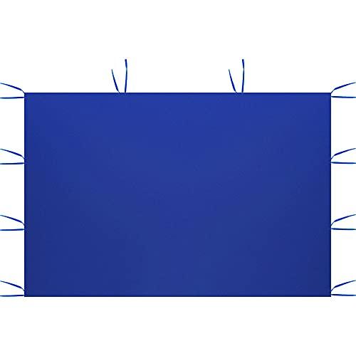 Paneles laterales para tienda de campaña, 3 x 2 m, carpa impermeable plegable, antilluvia, resistente a los rayos UV, para fiestas, camping, playa (sólo incluye un lado) (azul, sin ventanas)