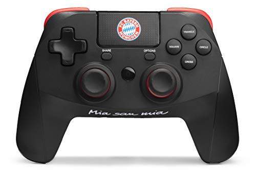 snakebyte FCB Wireless Pro Controller (PS4) - Offiziell lizenzierter FC Bayern München Bluetooth Gamepad PlayStation 4 / PS4 Pro / Computer, PC / Analog Dual Joystick / Touchpad / 3,5mm Klinkenstecker
