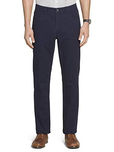 Geoffrey Beene Herren Slim Fit Twill 5 Pocket Pant Freizeithosen, Cadet Marineblau, 34W / 30L