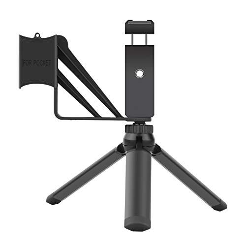 HLLR Soporte para teléfono Plegable Adaptador Clip Selfie Mount Trípode de Metal