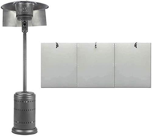 ISAKEN Escudo Reflector del Calentador de Patio, Cubierta de lámpara de Calor...