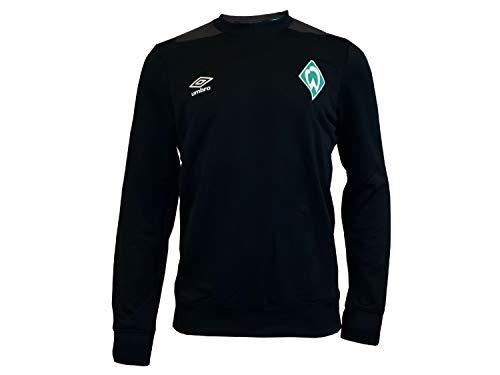 Umbro SV Werder Bremen Sweatshirt schwarz SVW Pullover Sweater Fan Shirt Werder, Größe:S