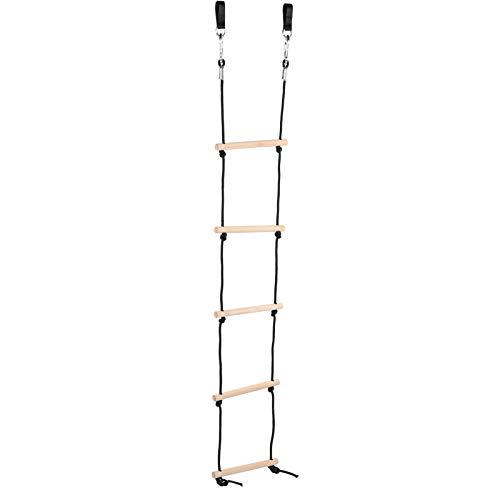 DAUERHAFT Escalera de Cuerda de Madera Escalera de Cuerda para niños Mejora la Aptitud física Escalera de Cuerda para niños al Aire Libre