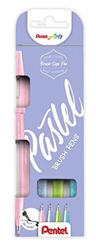 Pentel SES15C-12 - Bolígrafo de punta tipo pincel, color negro, gris, gris oscuro 3