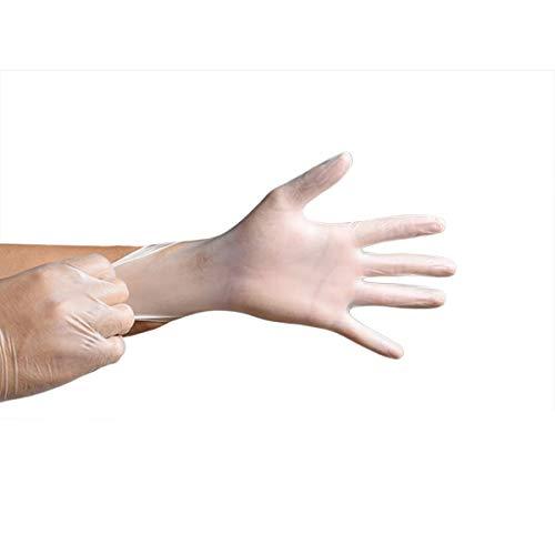 CHRONSTYLE 100 Stück Nitril Einweghandschuhe Einmaldhandschuhe Latexfrei Handschuhe - Handy-Touchscreen-Design Haushalt Küche Catering Abdichtung Schönheitssalon Zahnmedizin (Transparent, S)