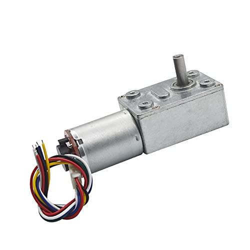 ZGQA-GQA Reductor de metal 40: 1 engranajes de alto esfuerzo de torsión con 11 codificador PPR 6 V, 12 V, 24 V DC Motor de engranaje sin fin para control inteligente (RPM) : 6, voltaje (V) : CC 6 V)