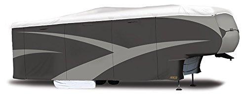 """ADCO 34855 Designer Series Gray/White 31' 1"""" - 34' DuPont Tyvek Fifth Wheel Trailer Cover"""