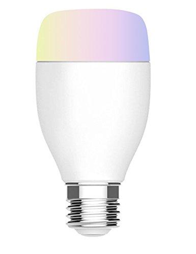 Megadream, lampadina WiFi a LED intelligente, controllata da remoto mediante smartphone, luce dal colore cangiante, da multicolore dimmerabile a bianco, compatibile con Alexa