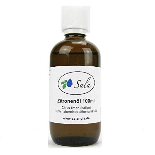 Sala Aceite esencial de limón, 100 ml, botella de cristal