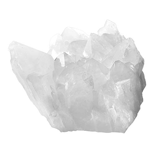 JOVIVI Bergkristall Druse Edelstein Rohstein Dekoration Formlose Steine Energietherapie Reiki Feng Shui Deko