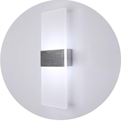 Topmo 12W blanco frío Lámpara de pared LED apliques para Dormitorio, salón, escalera y salones / 290 * 110 * 48 mm / Lámpara de pasillo llevado en acrílico / aluminio cepillado 840Lumen 6500KB