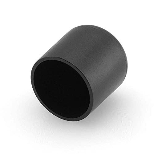 GLEITGUT 4 x Fußkappen 28 mm Rohrkappen schwarz Stuhlkappen rund Endkappen für Rundrohre