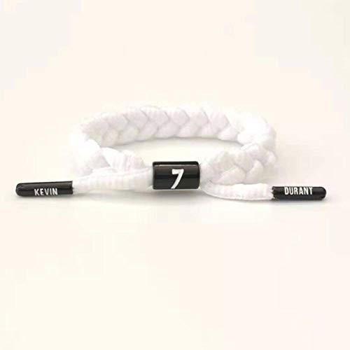 CHOCHO - Braccialetto olografico riflettente da basket sportivo da uomo, con corda bianca pura