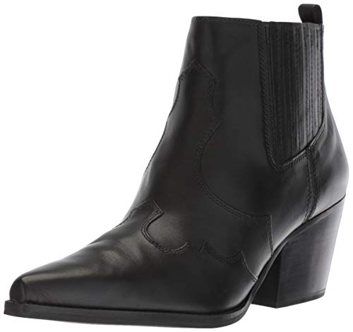 Sam Edelman Women's Winona Western Boot, Black Leather, 10.5 M US