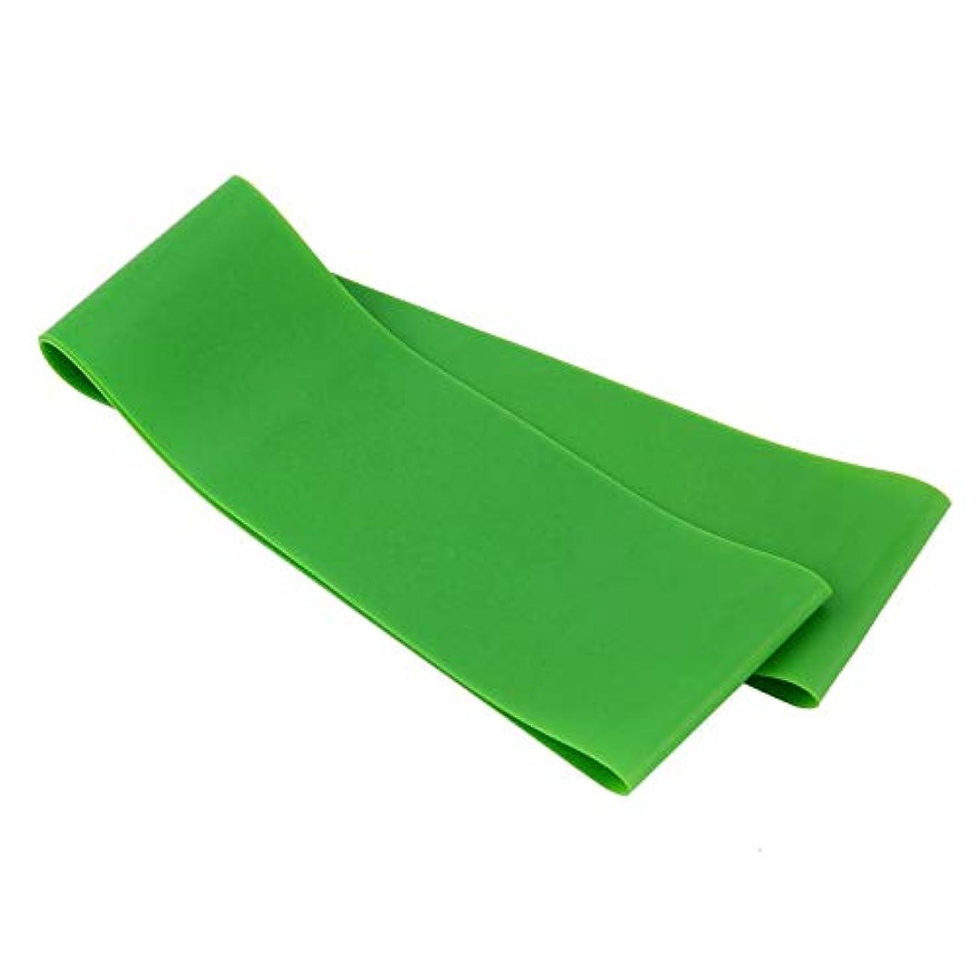 クラフトセットアップ小麦粉滑り止め伸縮性ゴム弾性ヨガベルトバンドプルロープ張力抵抗バンドループ強度のためのフィットネスヨガツール - グリーン