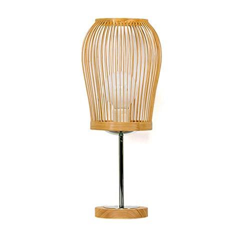 Lámpara de Mesa Luz Lámparas de Escritorio Luces E27 Fuente de luz Moderna y Simple Dormitorio de bambú Lámpara de Noche Cálida IKEA Estudio de jardín Lámpara de Mesa de Ojos Sala de Estar Creativa
