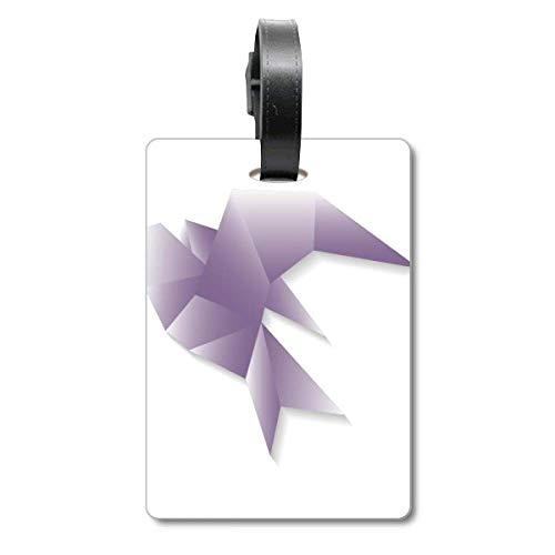 Etiqueta geométrica Abstracta con diseño de Paloma de Origami para Maleta de Crucero, Etiqueta de identificación de turista