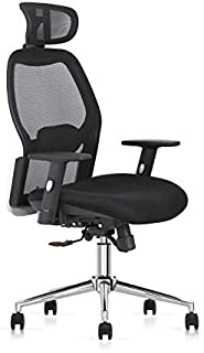 Multi Home Furniture MH-829 Ergonomic Computer Desk Chair for Office and Gaming with headrest, back comfort and lumbar sup...