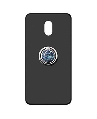 Sunrive Kompatibel mit Meizu M3 Max Hülle Silikon, 360°drehbarer Ständer Ring Fingerhalter Fingerhalterung Handyhülle matt Schutzhülle Etui Hülle (Blauer Marmor) MEHRWEG