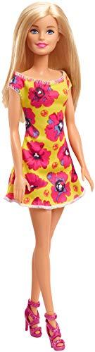 Barbie - Fashionista Muñeca Rubia con Vestido Amarillo con Flores (Mattel GBK93) , color/modelo surtido