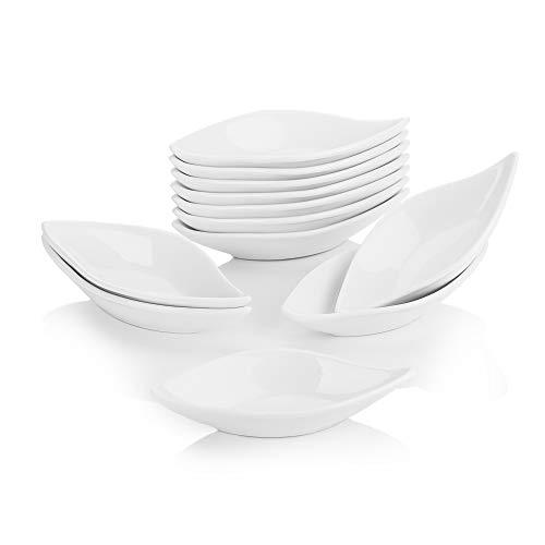 "Malacasa, serie Ramekin.Dish, 12 piezas Cuencos de Porcelana Set SUPER MINI 4.75"" / 12 x 6 x 2.2cm Recipiente de Porcelana Postre Aperitivo Snack"