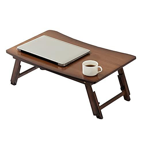 FGFDS Escritorio para Computadora Portátil De Estudio, Mesa Plegable para Computadora Portátil De Altura Ajustable, Sofá para Computadora, Mesa De Desayuno, 63 X 38 X 23 Cm (Color : Brown)