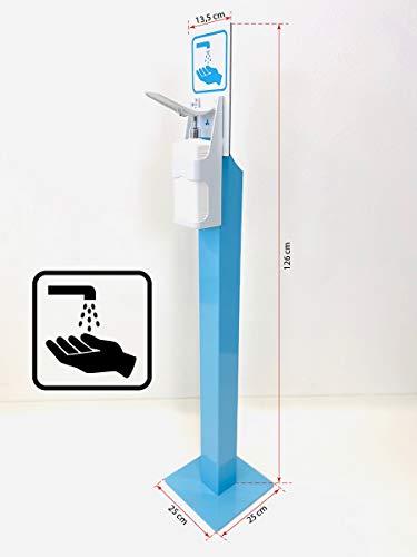 Desinfektionssäule, Desinfektionsmittelspender mit Stand Fuß, Hygiene Tower, Desinfektionsstation mit Spender