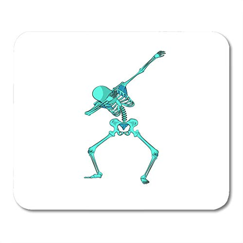 Mauspads, Stock Green Skeleton Character Dancing Dab Schritt Modische Hip Hop Pose Meme für für Happy Halloween Gummi Mouse Mat Pad für Lerncomputer,25x30cm