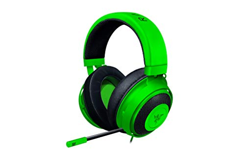 Razer Kraken Auriculares Gaming con cable para juegos multiplataforma para PC, PS4, Xbox One & Switch, Diafragma 50 mm, Cable de 3.5mm con controles de línea, Color Verde