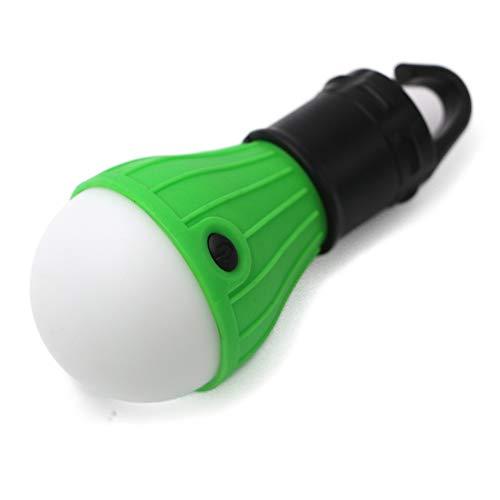 ZZKK mini-lantaarn Tent Light LED-lamp noodlamp waterdichte haak voor het ophangen zaklamp voor camping, 4 packs, 3 x AAA, blauw
