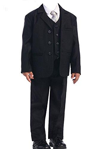 New Fashion Edel 5 teilige Kinder Anzug in Schwarz für Jungen in Gr. 86-176