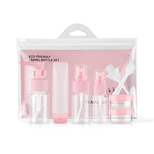 Bodhi2000 Lot de 9 flacons de Voyage pour cosmétiques, shampooing, après-shampooing, Lotion, Savon, liquides