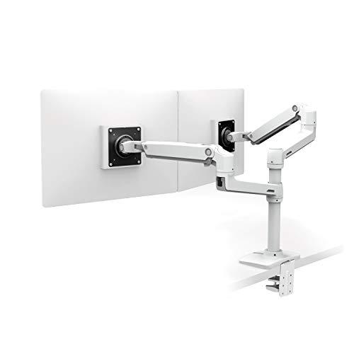エルゴトロン LX デスクマウント デュアルモニターアーム 縦/横型 ホワイト 45-492-216