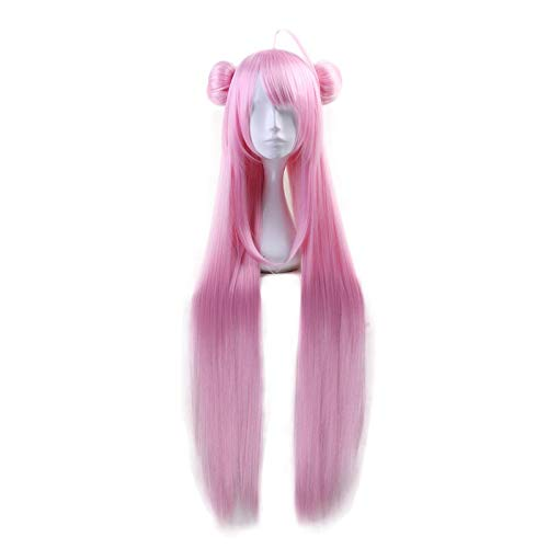 Anime Happy Sugar Life Matsuzaka Satou peluca larga recta rosa con moo Cosplay disfraz mujeres pelo resistente al calor pelucas Cosplay