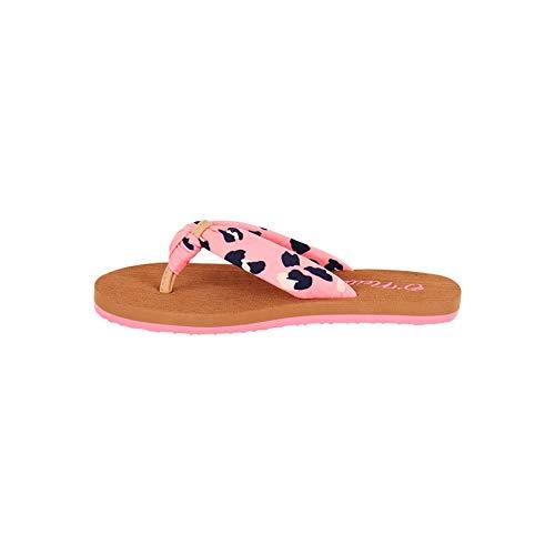 O'Neill Mädchen Fg Woven Strap Sandalen Zehentrenner, Mehrfarbig (Pink AOP W/Blue 4950), 34 EU
