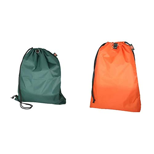 【セット買い】プロト・ワン 消臭ランドリーバッグ L(63cm×55cm) グリーン & 消臭ランドリーバッグ M(43cm×35cm) オレンジ