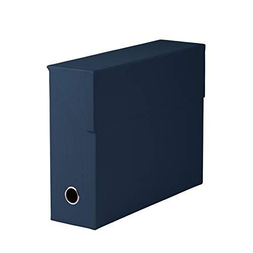 Rössler 1319452903 - S.O.H.O. Archivbox, mit Klappe und Griffloch, navy