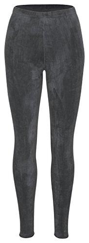 Piarini Winter-Leggings mit Teddy-Innenfleece - Thermo-Leggings extra kuschelig warm in Anthrazit Gr.L-XL