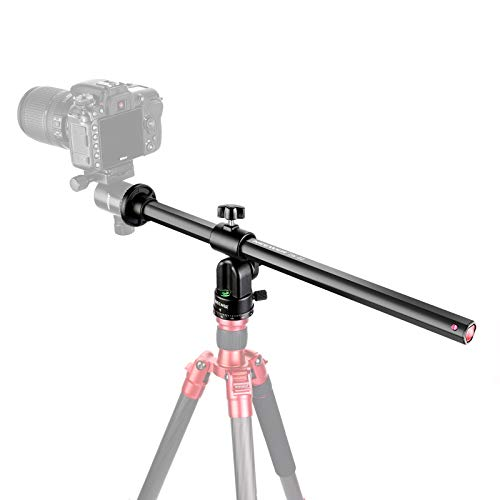 """Neewer Tripod Boom Arm, 19.7"""" Horizontal Center Column Tripod Extension Arm Rotatable 360° Aluminum Alloy Swivel Lock for Overhead Photography, Macro and Low-angle Shooting, Load up to 22lbs/10kg"""