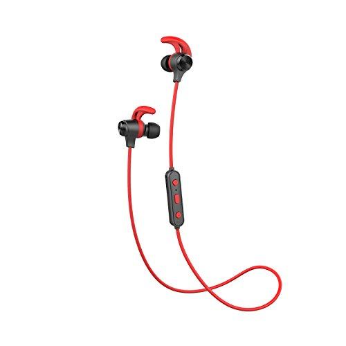 Edifier W280BT Bluetooth Kopfhörer In-Ear mit Mikrofon, Auriculares Stereo Headphones Sport Earbud für PC Smartphones MP3/4 Joggen/Laufen - Rot