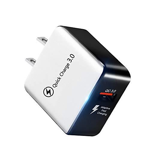 Gcroet Fast Adaptador De Carga Qc3.0 USB De Carga Rápida Cargador del Enchufe Tecnología De Alimentación Universal Multi por Teléfono Varón De EE.UU.