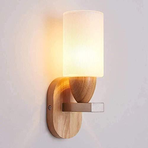 Lámpara De Pared Simple Y Fresca Estilo minimalista Iluminación de pared de metal Moderna calidad de madera lámpara de pared / luz de vidrio helada luz / restaurante luces de pared decorativas Eficien