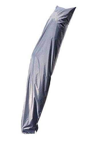 Spetebo Cases Deluxe voor zonnescherm van 200 cm tot 400 cm - Materiaal: Oxford 420 polyester - waterdicht, duurzaam, UV-bescherming 255 cm grijs