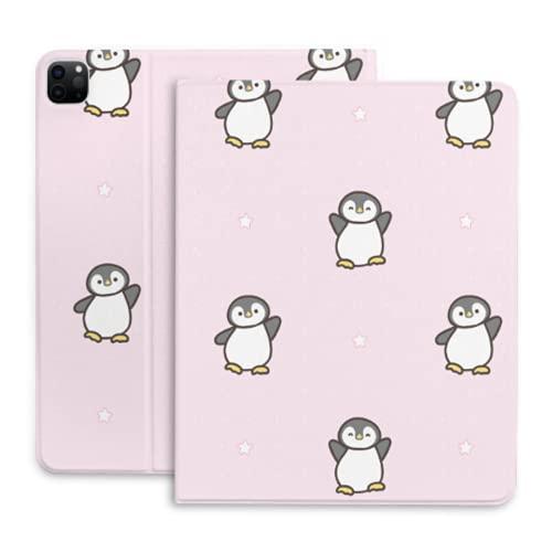Funda de Tableta de Dibujos Animados Happy Penguin para Funda para iPad con portalápices Compatible con iPad 2020 Pro 11 12,9 Pulgadas