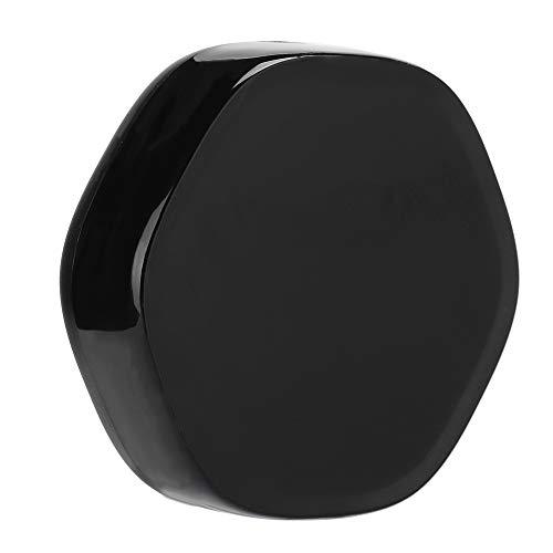 CHENQIAN Fernbedienung Universal Smart WiFi IR Infrarot Sprachsteuerung Fernbedienung für Haushaltsgeräte, Schwarz, 3.4x3.5x1in