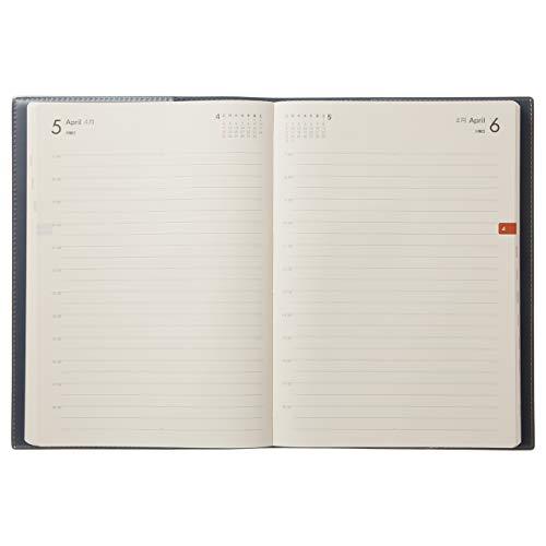 能率NOLTY手帳2021年A5デイリーメモリー2ネイビー7121(2021年1月始まり)