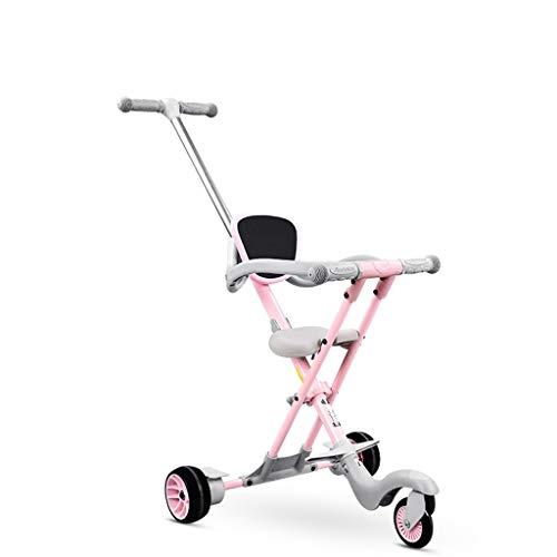 Gute Qualität Kinderwagen Buggys Leichter Kinderwagen Tragbarer Kinderwagen mit Bremsen und Sicherheitssystem für Kleinkinder von 1-6 Jahren Baby Standardkinderwagen (Color : Pink)
