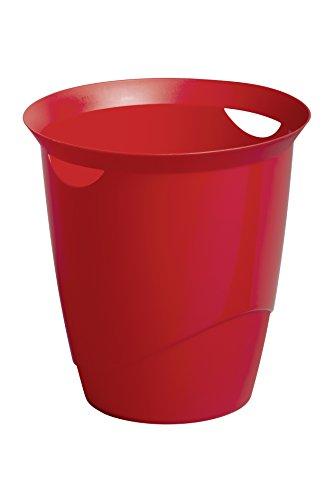 Durable 1701710080 Cestino Gettacarte Trend, Capacità 16 Litri, Doppia Impugnatura, 330 x 315 mm, Rosso